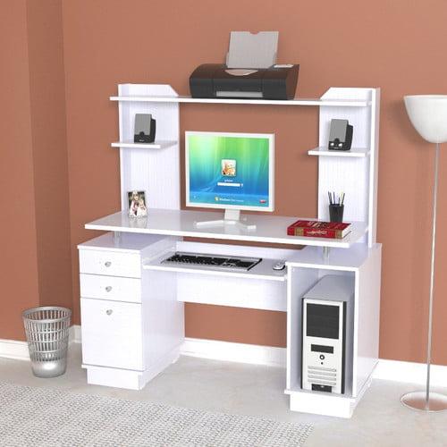Inval Laura Computer Desk With Hutch Walmart Com