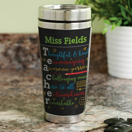 Colorful Teacher Gift - Personalized Teacher Travel Coffee Mug - Halloween Sayings For Teacher Gifts