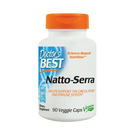 Doctor's Best Natto-Serra, Non-GMO, Vegan, Gluten Free, 90 Veggie Caps Complex 90 Veggie Caps