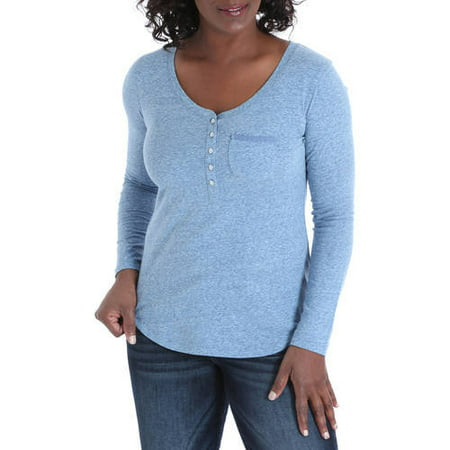 Little Tee Tee Lace And Trims (Women's Henley Knit Top with Lace Trim)