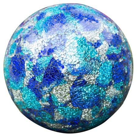 """E-V 10"""" Blue Aqua Mosaic Gazing Globe"""