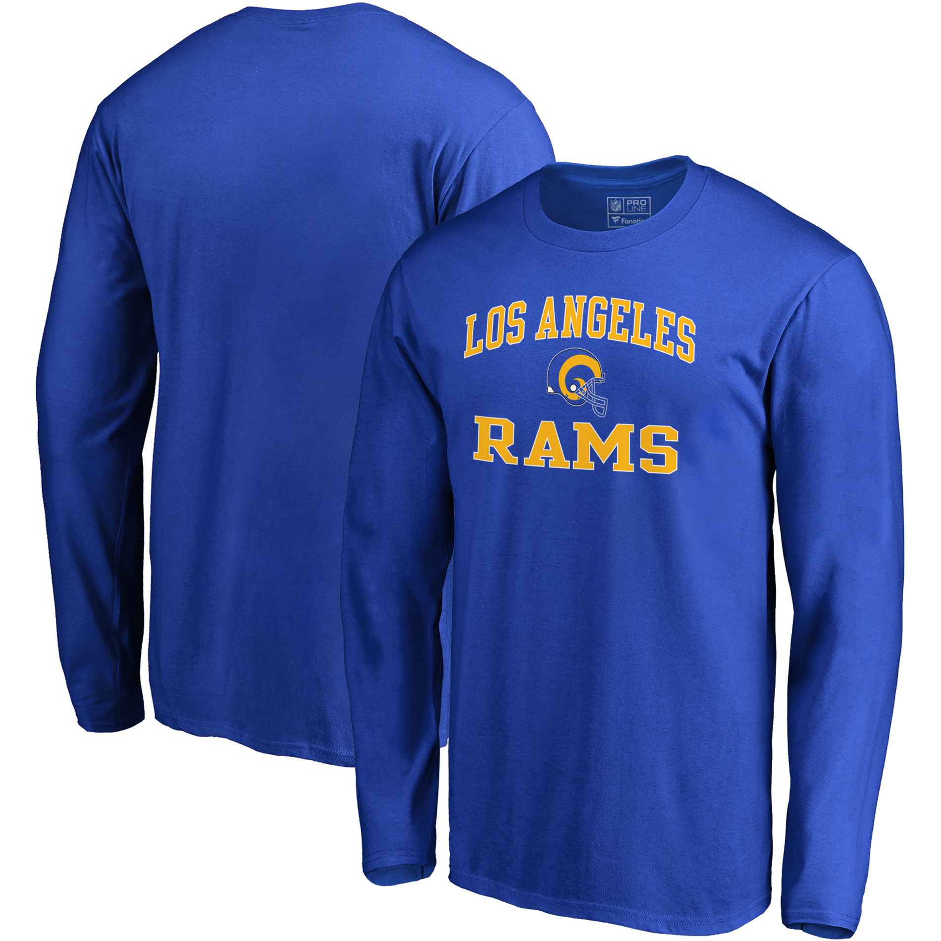 Los Angeles Rams NFL Pro Line by Fanatics Branded Vintage Victory Arch Long Sleeve T-Shirt - Royal