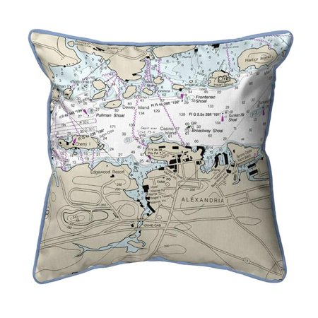 Betsy Drake SN14772 12 x 12 in. Alexandria Bay, NY Nautical Map Small Corded Indoor & Outdoor Pillow - image 1 of 1