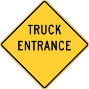 Traffic Signs - Truck entrance, Delaware and Texas Heavy Duty 12 x 18 Peel-n-Stick Sign Street Weather Approved Sign