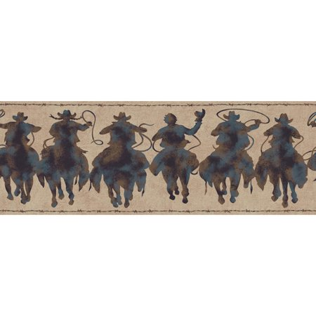 York Wallcoverings Portfolio II Silhouette Riders 15' x 9