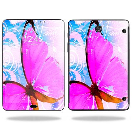 MightySkins Protective Vinyl Skin Decal for Samsung Galaxy Tab S2 8.0 T715 screen wrap cover sticker skins Pink Butterfly