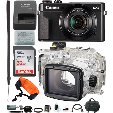 canon powershot g7x mark ii camera with canon wp dc55. Black Bedroom Furniture Sets. Home Design Ideas