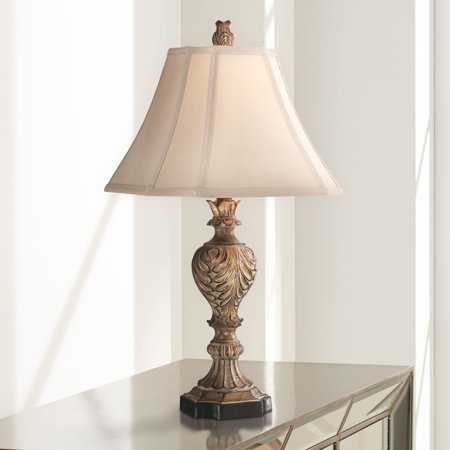 Regency hill traditional table lamp carved brown tan - Traditional table lamps for bedroom ...