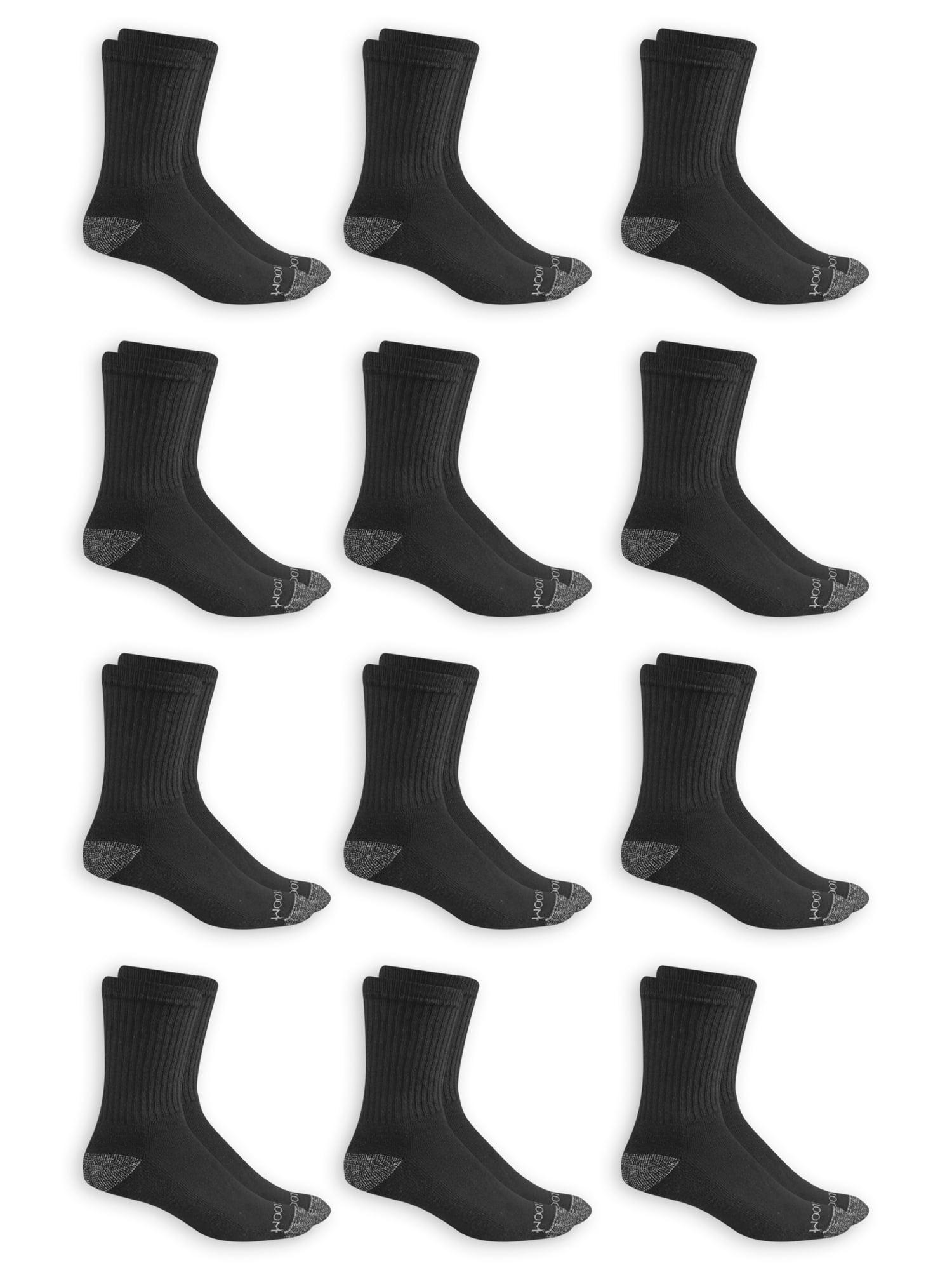 Men's Dual Defense Crew Socks 12 Pairs