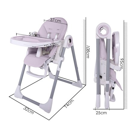 Multifunction Baby High Chair Foldable Portable Telescopic Child Dining Table Bett