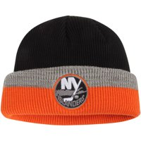 7576bd95279 Product Image New York Islanders Reebok Center Ice Travel   Training  Captain s Cuffed Knit Hat - Black