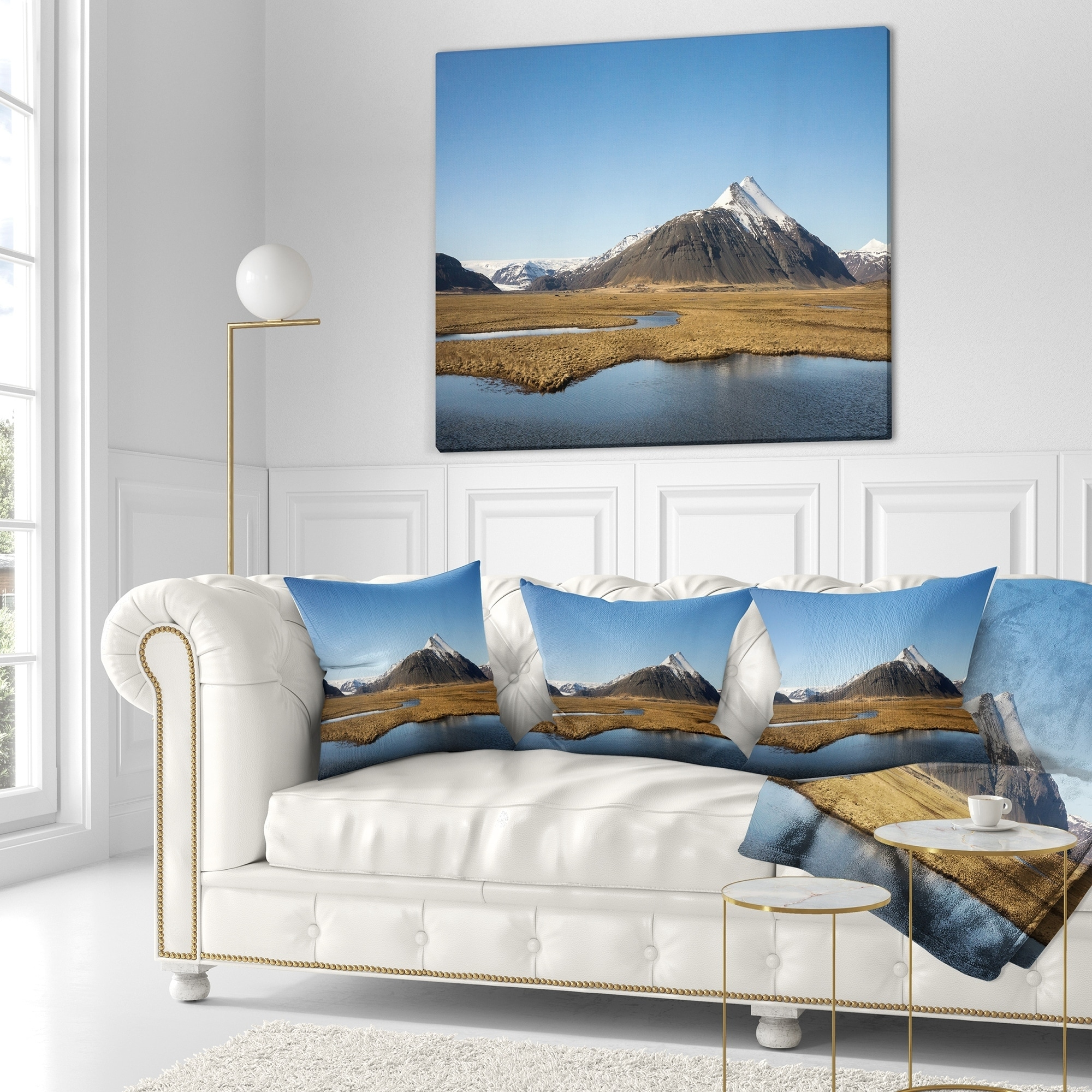 Design Art Designart Scenic Southern Iceland Landscape Photography Throw Pillow Walmart Com Walmart Com