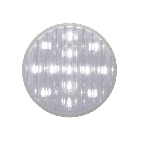 """4 Grommets White 2/"""" Round 9 LED Custom Mini Reverse Backup Lights Wires"""