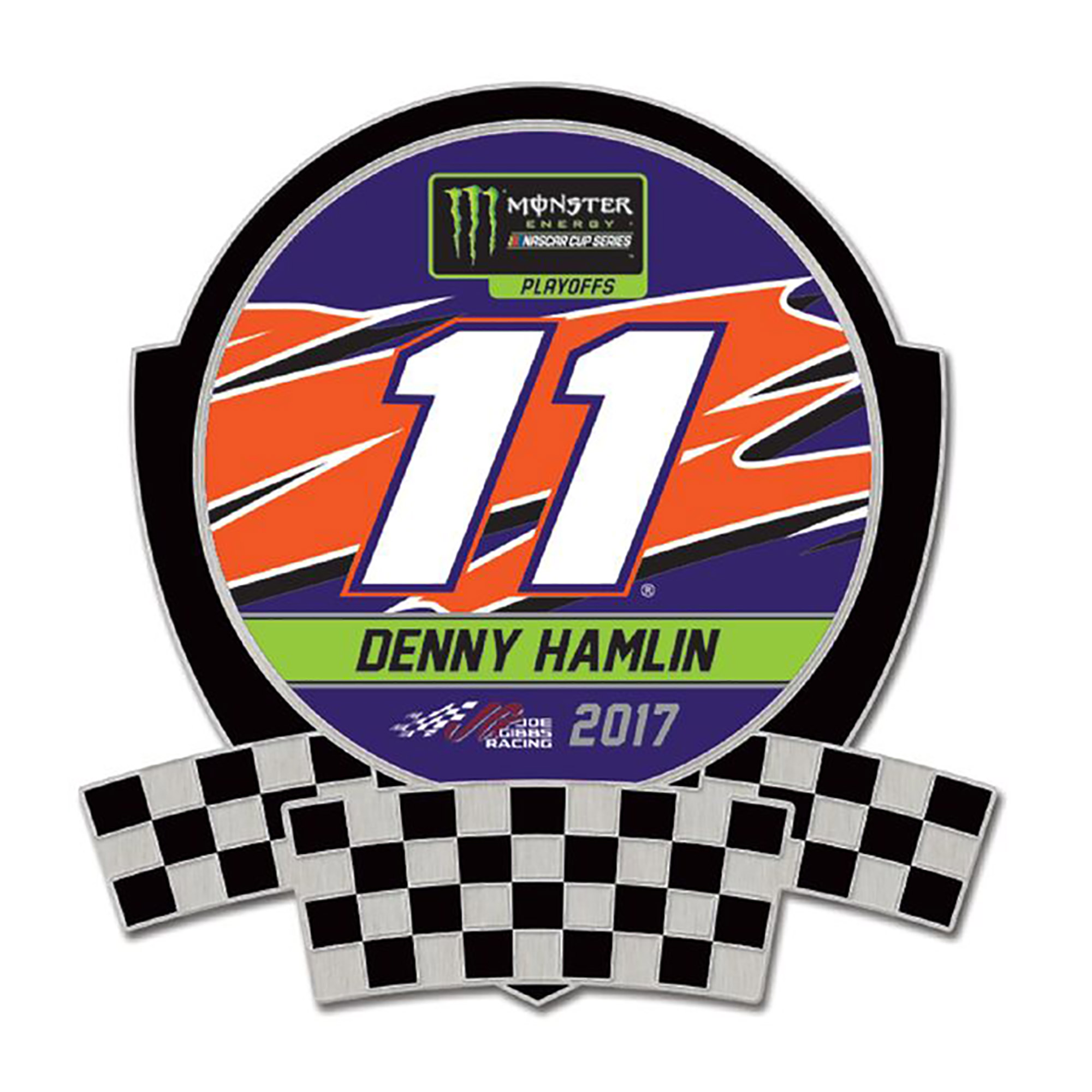 Denny Hamlin WinCraft 2017 Monster Energy NASCAR Cup Series Playoffs Collector Pin - No Size
