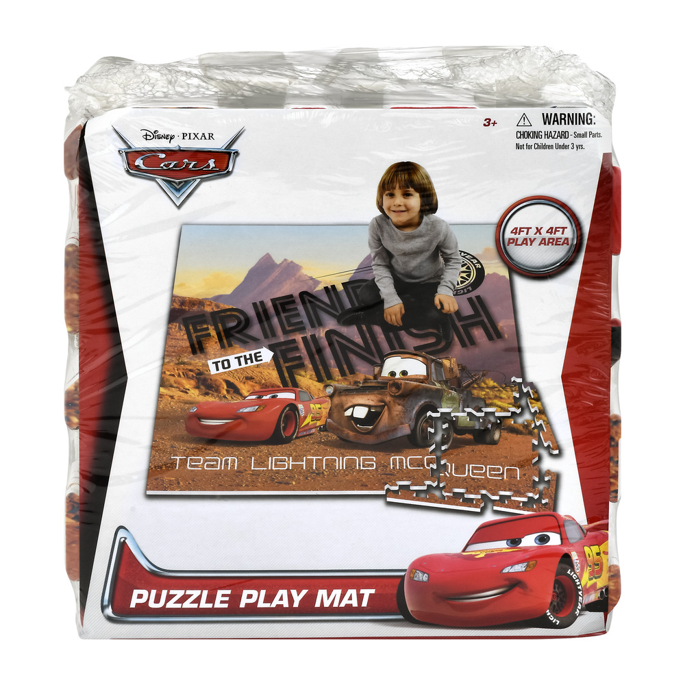 Disney Pixar Cars 4ft x 4ft Puzzle Play Mat 3+, 1.0 CT