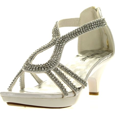 e2a59316a59 Delicacy Angel 36 Women Dress Sandals Rhinestone Platform Pumps Wedding  Bridal Low Heel Shoes - Walmart.com