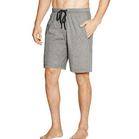 Hanes Mens 100% Cotton Jersey Lounge Pajama Sleep Short - Sizes S - 2XL 40236-Small (Active Grey Heather/Black)