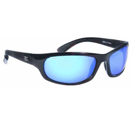 Calcutta Steelhead Sunglasses, Tortoise Frame, Blue Mirror Lens (White Tortoise Sunglasses)