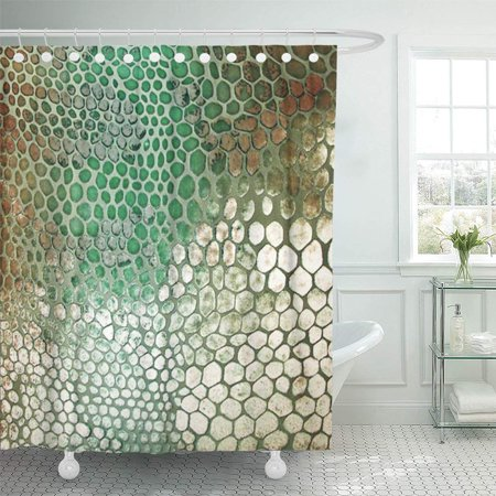 XDDJA Western Snakeskin Turquoise and Tan Southwest Home Shower Curtain 60x72 inch - image 1 de 1
