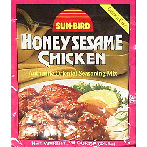 Sun-Bird Honey Sesame Chicken Seasoning Mix, .87 oz, (Pack of 24)