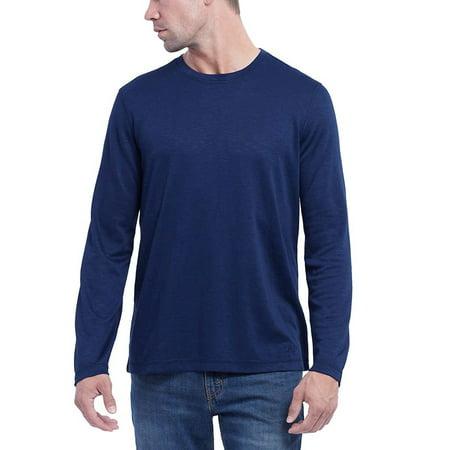 Orvis Mens Long Sleeve Slub Tee (Dark Blue, (Long Sleeved Navy Blue Shirt)