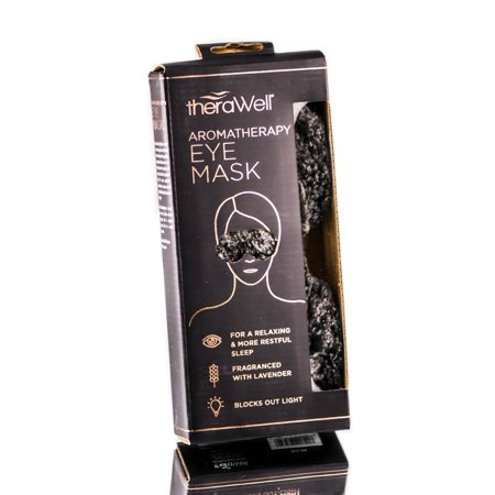Upper Canada Soap TheraWell Faux Fur Aromatherapy Eye Mask - Black