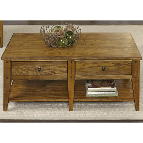 Liberty Furniture Industries Liberty Lake House Transitional Oak Cocktail Table