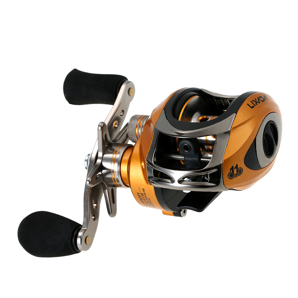 LMA200 10+1BB Ball Bearings Right Hand Bait Casting Fishing Reel High Speed 6.3:1