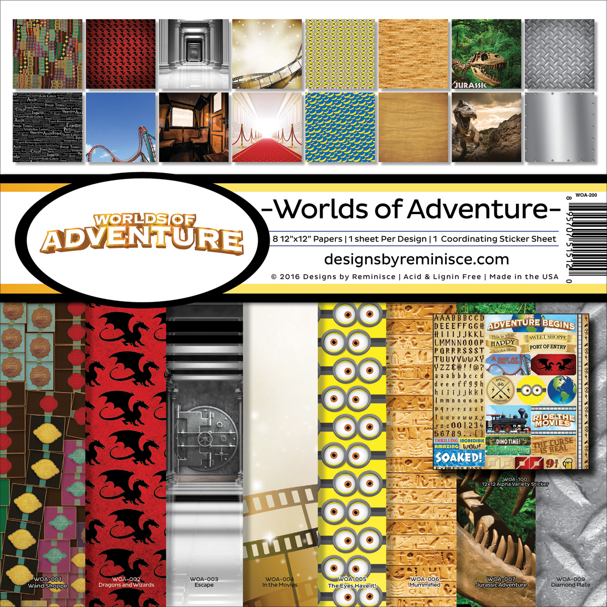 "Worlds of Adventure Collection Kit, 12"" x 12"""