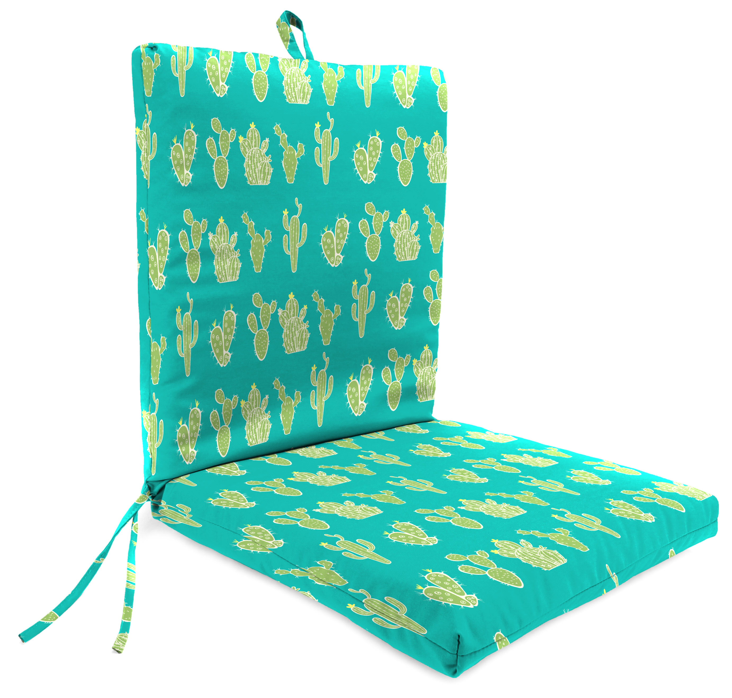 mainstays cactus 1 piece outdoor dining chair cushion