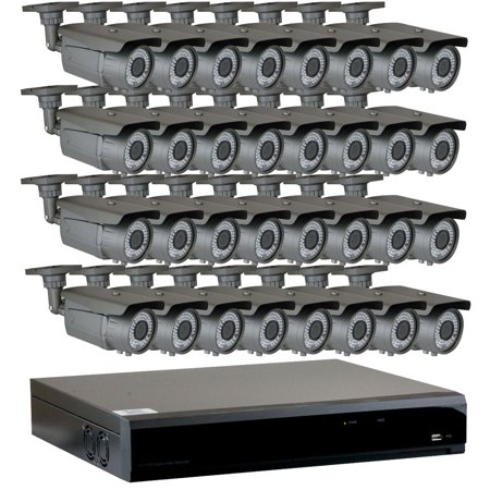 GW 32 Channel 4-In-1 DVR HD-TVI 1080P Complete Security System with (32) x  True 2MP HD 1080P Outdoor / Indoor 2 8-12mm Varifocal Zoom Bullet Security