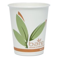 SOLO Cup Company Bare by Solo Eco-Forward Recycled Content PCF Hot Cups, Paper, 10 oz, 300/Carton