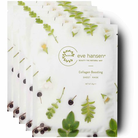 Eve Hansen Moisture Infusion Sheet Masks X5 | Collagen Boosting and Hydrating Face (Sanctuary Mum To Be Collagen Boosting Bump Butter)