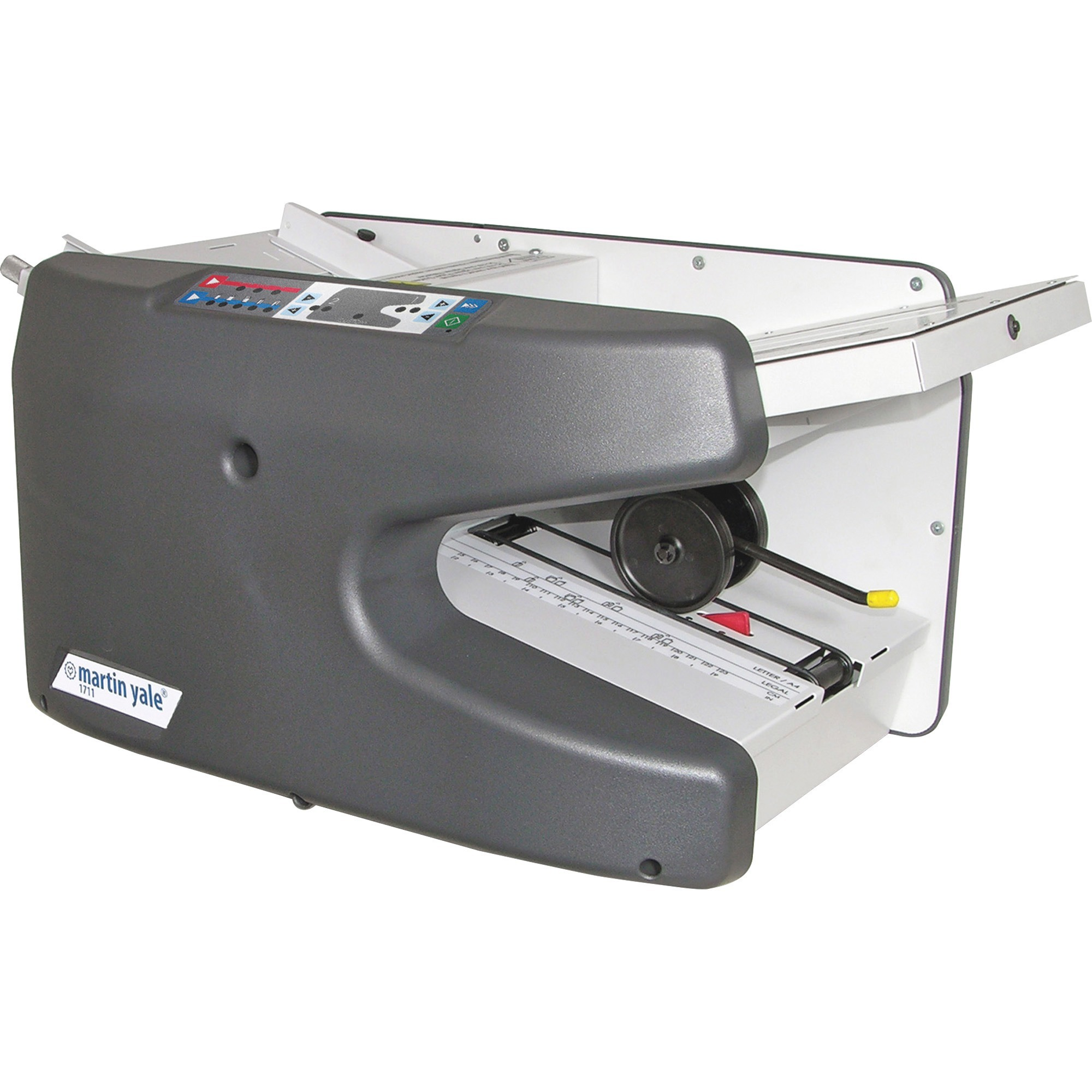 Martin Yale, PRE1711, Premier Electronic Ease-Of-Use Semi-Auto Folder, 1 Each, Charcoal