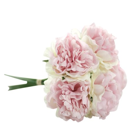 Artificial Silk Fake Flowers Peony Floral Wedding Bouquet Bridal Hydrangea - Ftd Hydrangea Bouquet
