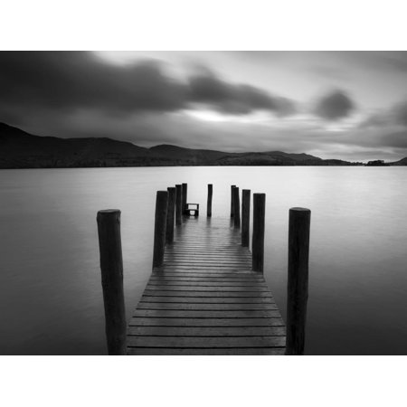 Barrow Bay, Derwent Water, Lake District, Cumbria, England Jetty Dock Coastal Landscape Black And White Photography Print Wall Art By Gavin (Best Photography Locations In The Lake District)