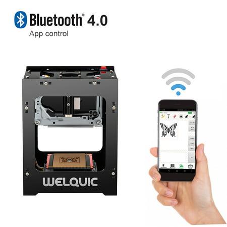 (Welquic 1500mW High Speed USB Laser Engraver DIY Engraving Machine Bluetooth App)