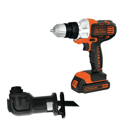 BLACK+DECKER BDCDMT120DRC 20V MAX MATRIX Drill with Bonus Recip Attachment
