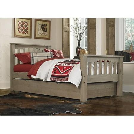 NE Kids Highlands Harper Twin Slat Bed with Trundle in Driftwood - image 2 of 2