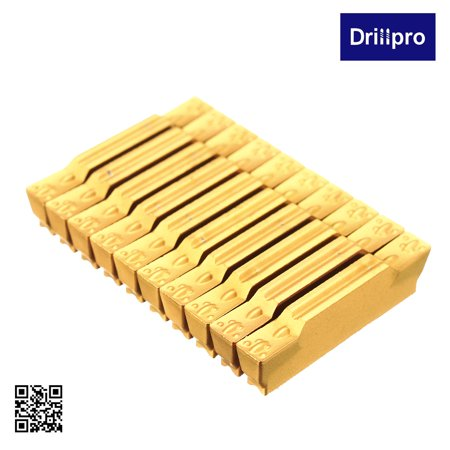 Tool Flo Grooving Inserts - Drillpro 10Pcs MGMN300-M Carbide Insert 3mm Width Grooving Blade For MGEHR/MGIVR Cut-Off Tool