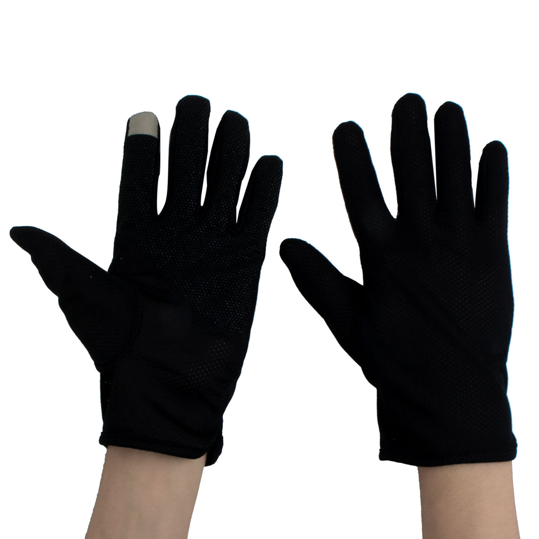 Man Summer Motorcycle Riding Driving Sun Resistant Gloves Protector Black #1