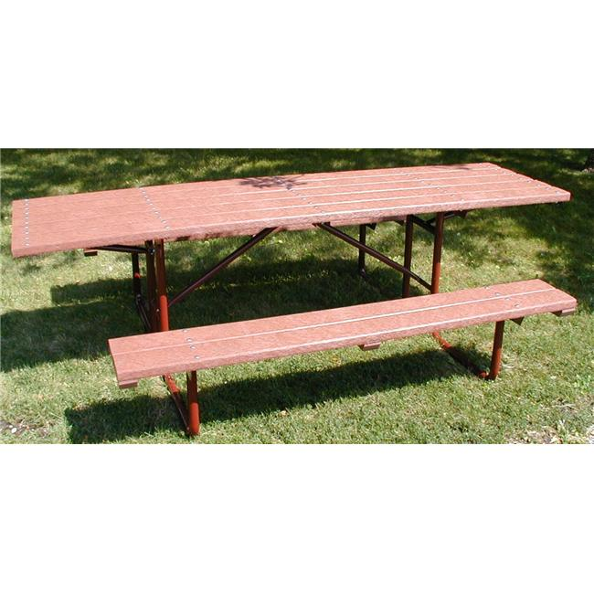Engineered Plastic Systems SPT8-H2 8ft Top -Duel Overhang - 6ft Bench in Redwood