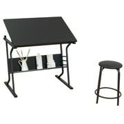 Studio Designs Eclipse Table & Stool Center, 35.5'' x 23.75'' Workspace