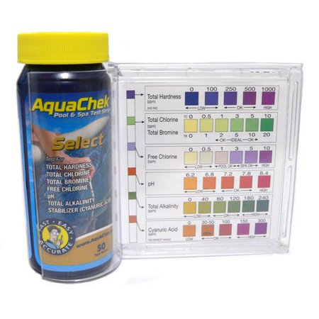 Aquachek Select 7 In 1 Pool Spa Test Kit W Plastic Guide 50ct Strips 541604a G344t3486g 34bg82g304704 By Jofeili
