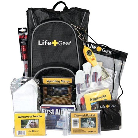 Zombie Survival Backpack (Life & Gear LG492 Day Pack Emergency Survival Backpack Kit -)