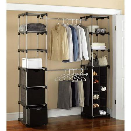 Mainstays Closet Storage Silver Black Walmart Com