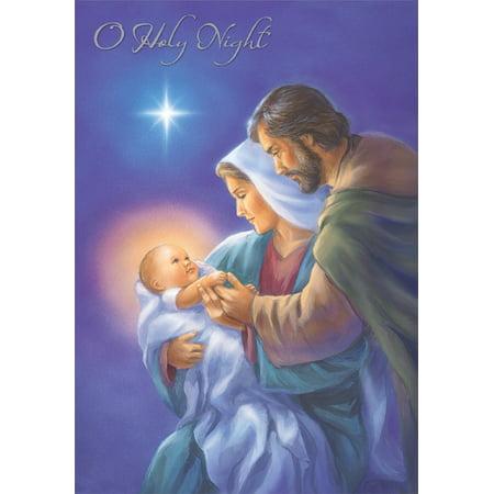 Religious Christmas Card Designs.Designer Greetings Mary And Joseph Craddling Jesus Religious Christmas Card