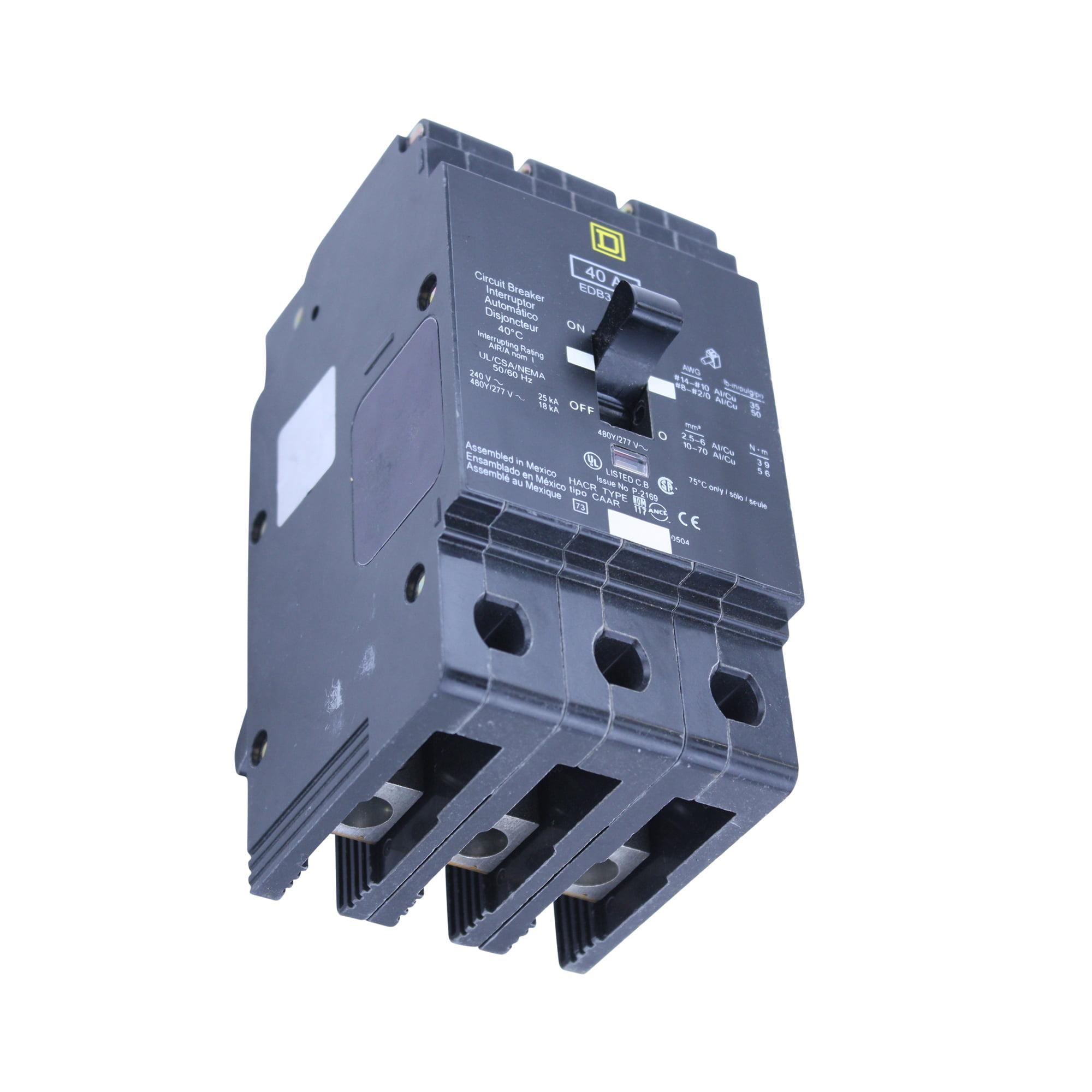 EDB34040 Square D 3pole 40amp 480//277V Circuit Breaker NEW!!