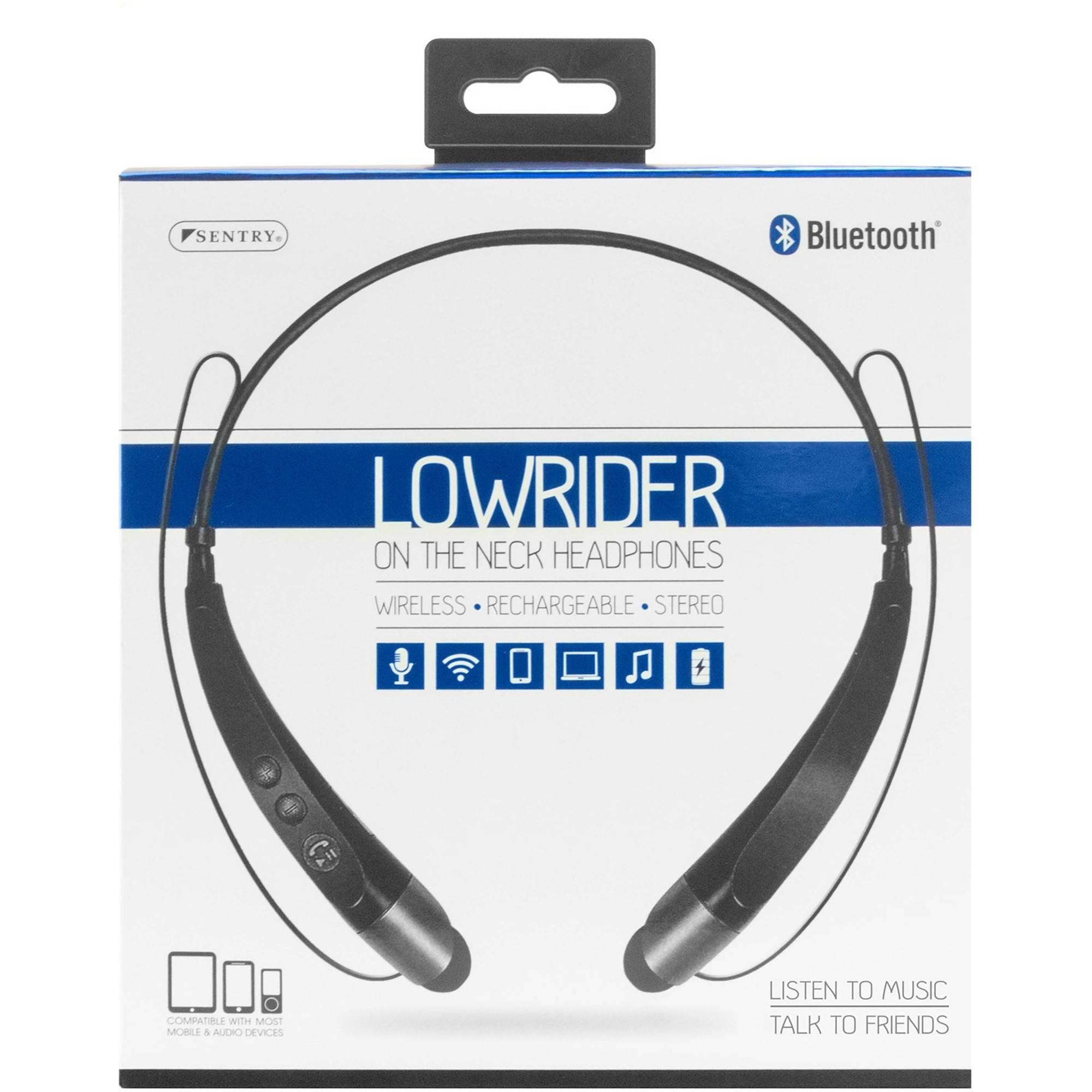 aa36305abbd Sentry Bluetooth Lowrider On-the-Neck Headphones - Walmart.com