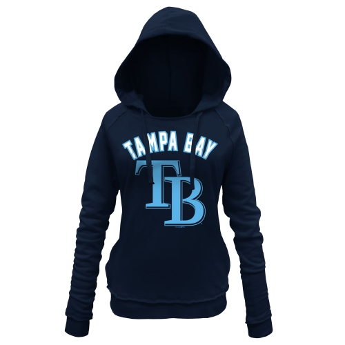 Tampa Bay Rays 5th & Ocean by New Era Women's Hot Corner Pullover Hoodie - Navy